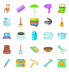 Housekeeping icons set cartoon style vector