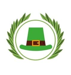 Irish elf hat icon vector