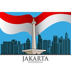 Jakarta city vector