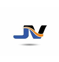 Jv company linked letter logo vector