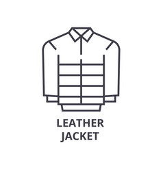leather jacket line icon outline sign linear vector image vector image