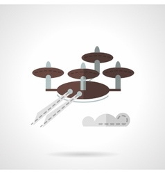 Scanning uav flat icon vector
