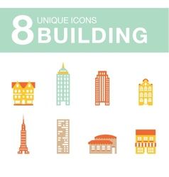 Set of icons of houses vector image vector image