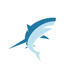 sharks figure business for two-color vector image
