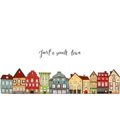 Small Town Design vector image