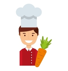 Chef worker avatar character icon vector