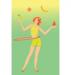 juggler girl vector image