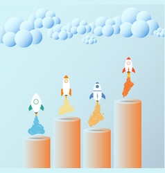 Business growth concept rocket useful for vector