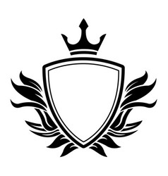 decorative shield crown heraldry victorian elegant vector image