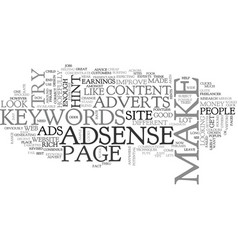 Adsense hints advice revised text word cloud vector