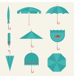 umbrella icons vector image