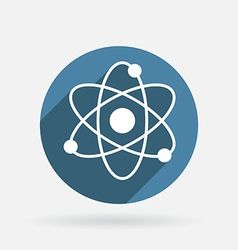 Molecule circle blue icon with shadow vector