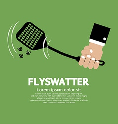 Flyswatter in hand vector