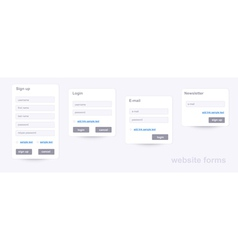 Website forms vector