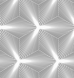 Monochrome gradually striped three ray stars vector