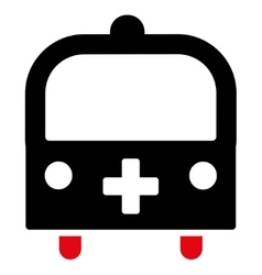 Medical bus icon vector