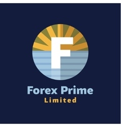 Logo for forex companies style paradise by sea vector