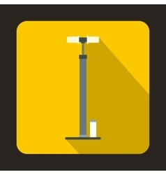 Bicycle pump icon flat style vector