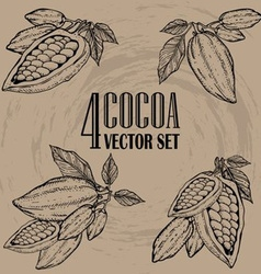 Cocoa Set vector image