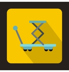 Warehouse trolley for weight lifting icon vector