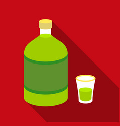 absinthe icon in flat style isolated on white vector image