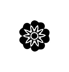 Abstract cute flower vector image vector image