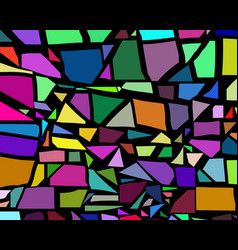 background different geometric shapes vector image