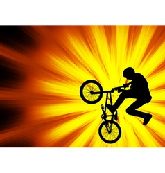 bmx bicyclist - abstract background vector image vector image