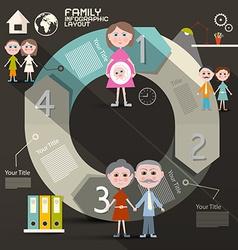 Circle Paper Retro UI Flat Design Infographics vector image vector image