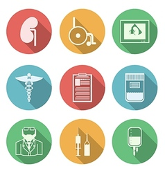 Colored icons for nephrology vector