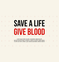 Design background world blood donor day style vector