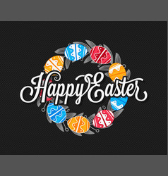 Easter eggs vintage design background vector