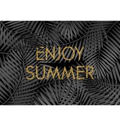 Enjoy summer poster design vector