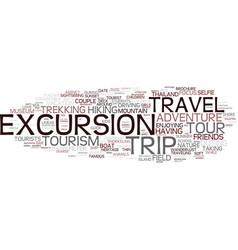 excursion word cloud concept vector image