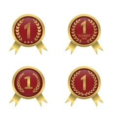 First place icons vector image vector image