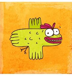 Flying Bird Cartoon vector image vector image