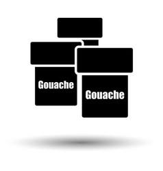 gouache can icon vector image vector image