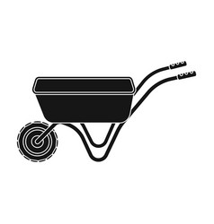 hand truck with one wheel wheelbarrow for the vector image vector image
