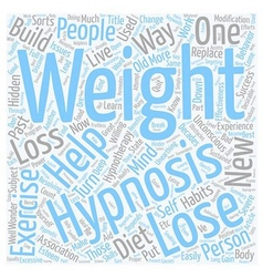 How hypnosis can help on weight loss text vector