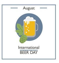 International beer day vector
