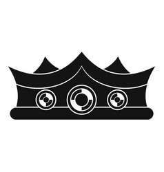 King crown icon simple style vector
