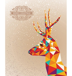 Merry christmas colorful reindeer shape background vector