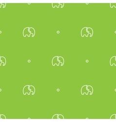 Minimalistic elephant seamless pattern vector