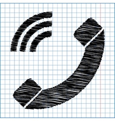 Phone sign Flat style icon vector image