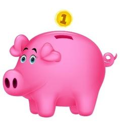 Piggy bank cartoon vector image vector image