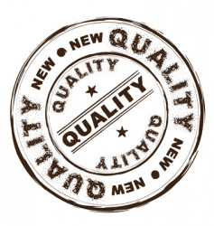 quality ink rubber stamp vector image