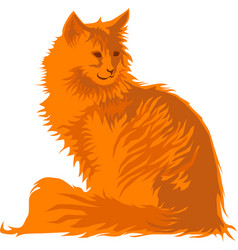 Red cat vector