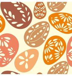 Seamless spring pattern with floral easter eggs vector image