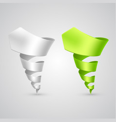 Set of colorful spiral arrows 3d vector