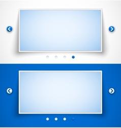 Set of web image sliders vector